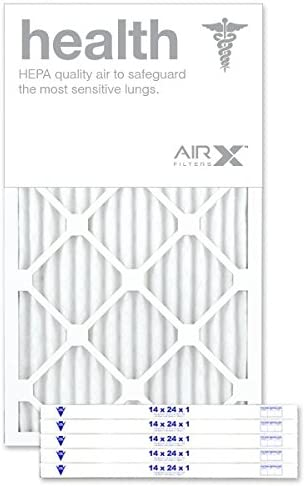 AIRx HEALTH 14x24x1 MERV 13 Pleated Air Filter - Made in the USA - Box of 6