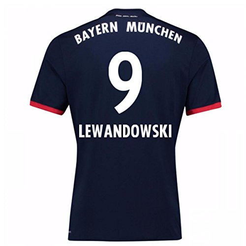 - 2017-18 Bayern Away Football Soccer T-Shirt Jersey (Robert Lewandowski 9) - Kids