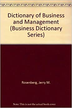 Book Dictionary of Business and Management (Business Dictionary Series)