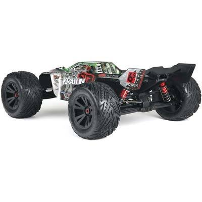 Rtr Electric Stadium Truck - ARRMA KRATON 6S BLX 4WD Electric RC RTR Remote Control Speed Truck with 2.4GHz Radio, Servo, Brushless ESC/Motor, 1:8 Scale, (Black/Green)