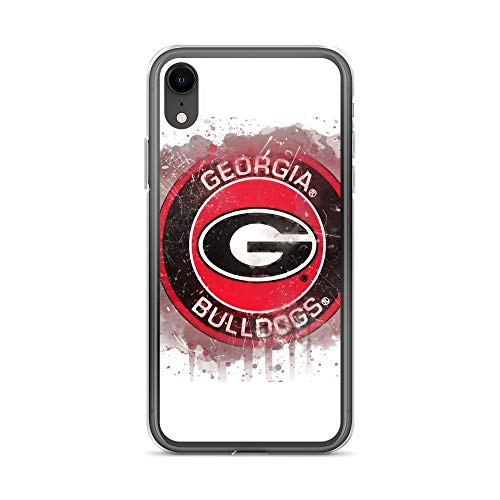 Georgia Bulldogs Cell Phone Cover - iPhone XR Pure Clear Case Cases Cover University of Georgia Watercolor Logo