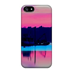 Iphone 5/5s Cases Slim [ultra Fit] Blue Pink Water Protective Cases Covers