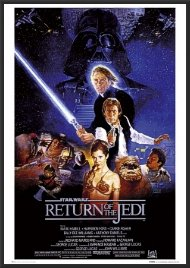 amazon com return of the jedi star wars poster dry mounted wood
