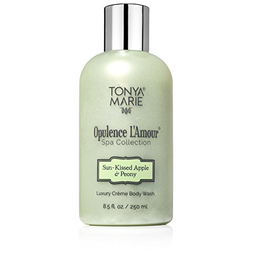 Apple Scented Body Wash - Soft Soap. Body Wash for Women. Moisturizing & Perfumed Bath Wash. Scented Liquid Body & Hand Soap For Dry Skin | Opulence L'Amour Sun-Kissed Apple & Peony by Tonya Marie | A Luxury | 8.5 fl.oz
