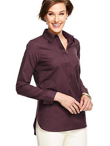 talbots-wrinkle-free-burgundy-rose-blouse-top-shirt-size-12
