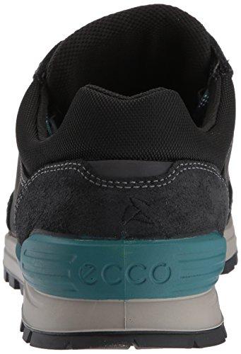ECCO Oregon, Zapatillas de Deporte para Exterior para Hombre, Verde/Naranja Negro (Black/black)