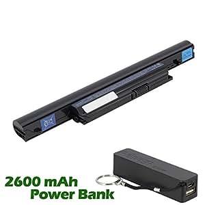 Battpit Bateria de repuesto para portátiles Acer Aspire 5553G-N934G328203MN (4400mah/48wh) con 2600mAh Banco de energía/batería externa (negro) para Smartphone