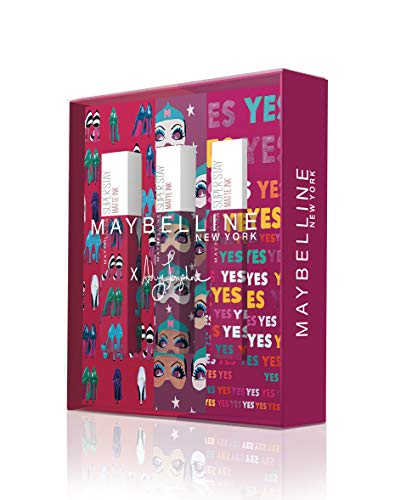🥇 Maybelline New York – Cofre de 3 Pintalabios Superstay Matte Ink