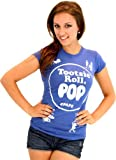 Tootsie Roll Pop Assorted Grape Blue Costume T-shirt (Blue) (Juniors Large)