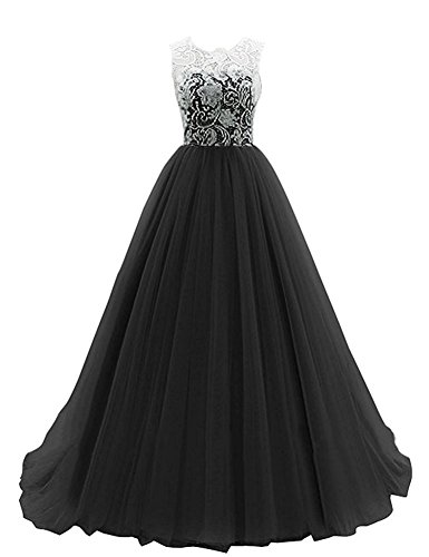 wn Scoop Neckline Cap Sleeve Tulle Lace Prom Dress Evening Gown (Shoulder Taffeta Ball Gown)