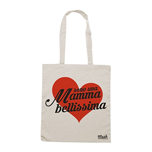 Borsa FESTA DELLA MAMMA LOVE MAMMA - Panna - DIVERTENTE by Mush Dress Your Style