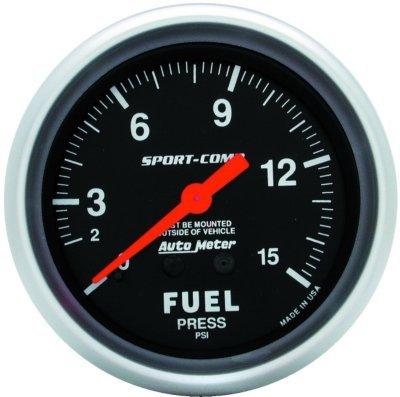 Autometer Fuel Pressure - 3411 - Autometer 3411 Fuel Pressure Gauge - Mechanical, May Require Minor Modification