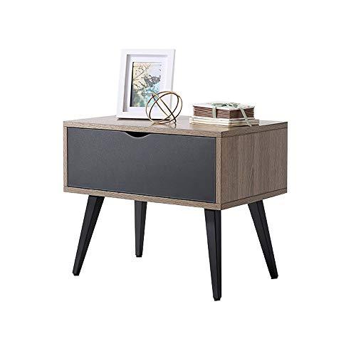 HHH Bedside Table, Simple and Modern, Pine Color Bedside Table, Bedside Storage Cabinet, Easy to Clean, Bedroom, Living Room, 1 Drawer Indoor - Pine Mattress Bedroom