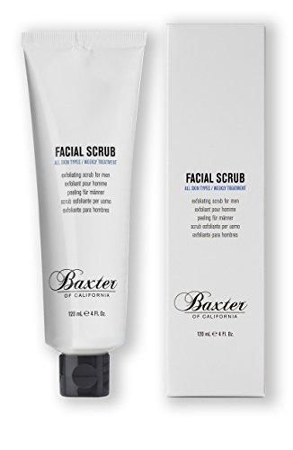 Baxter of California Exfoliating Facial Scrub, Non-Drying with crushed Walnut and Avocado Oil, Sensitive Skin to All Skin Types, 4 fl. oz.