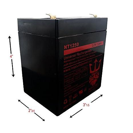 Repuesto para expertpower exp1250 12 V 5 Ah batería de ...