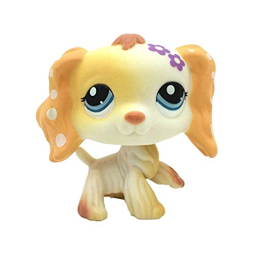 Cream Cocker Spaniel Puppy Dog Blue Eyes LPS Toy #1615 (Brown) -
