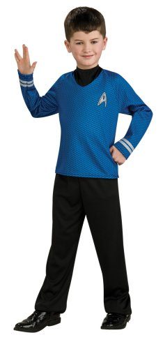 Star Trek Costume Pants (Star Trek Movie Child's Blue Shirt Costume with Dickie and Pants, Medium)