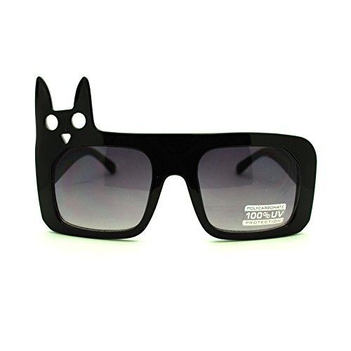 Japanese Manga Anime Character Kitty Thick Plastic Frame Sunglasses - Japanese Glasses Frames