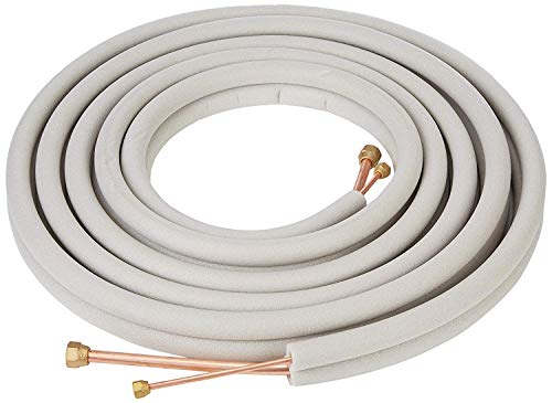 "Senville 25 Ft. Copper Pipes for Mini Split Air Conditioner 1/4"" & 3/8"" White"