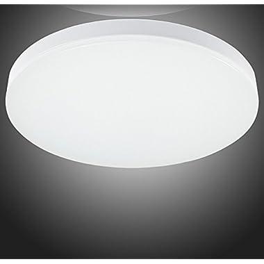 S&G® 9.6-Inch LED Ceiling Lights 8w 5000k(Cool White) 650-750lm Flush Mount Bedroom Ceiling Lights Dining Room Lighting Fixtures
