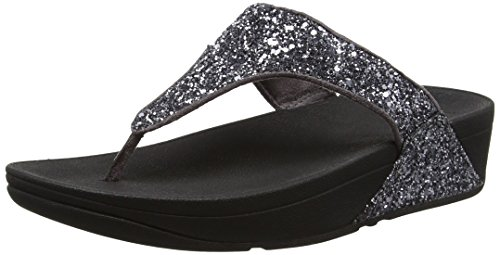 Fitflop Glitterball Toe-post - Sandalias con tacón Mujer gris