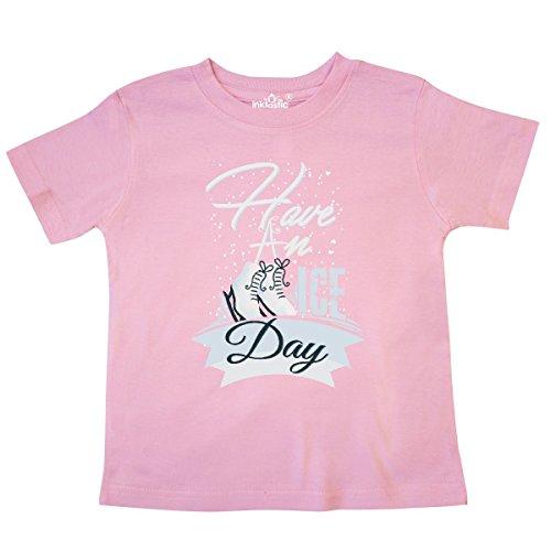 inktastic Ice Skating Gift Winter Sports Skater Toddler T-Shirt 5/6 Pink (Clothes Boys Skating Ice)