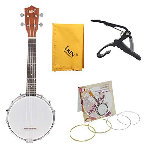 B Blesiya Conjunto para Banjo De 4 Cuerdas Resonador De Madera Arce para Principiantes Producción Instrumentos Musicales