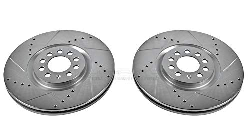 Power Stop EBR646XPR Front Evolution Drilled & Slotted Rotor Pair
