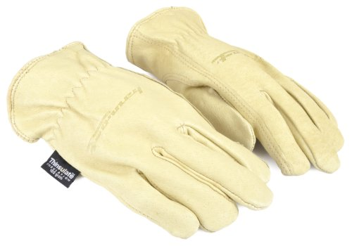 Forney 53166 Pigskin Leather Driver Premium Lined Women's Gloves, Small - Lined Pigskin Driver