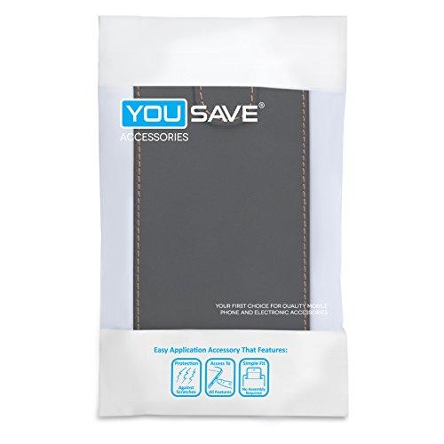 Yousave Accessories Schutzhülle aus PU Leder Flip Cover Schutzhülle mit Eingabestift für iPhone 6–schwarz