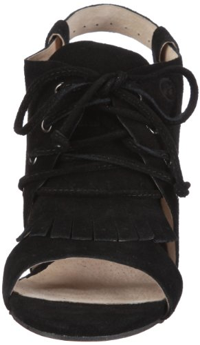 83769 Sandalen Black Fashion Schwarz Sandalen 37 black B1 Coral Bronx Damen fringe qPI008
