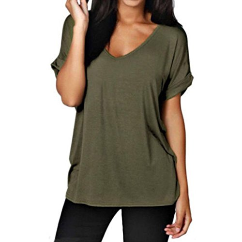 Clearance Sale! Wintialy Women Casual Loose Short Sleeve Ladies V Neck Top T Shirt