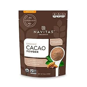 Navitas Organics Cacao Powder, 16 oz. Bags, 30 Servings — Organic, Non-GMO, Fair Trade, Gluten-Free