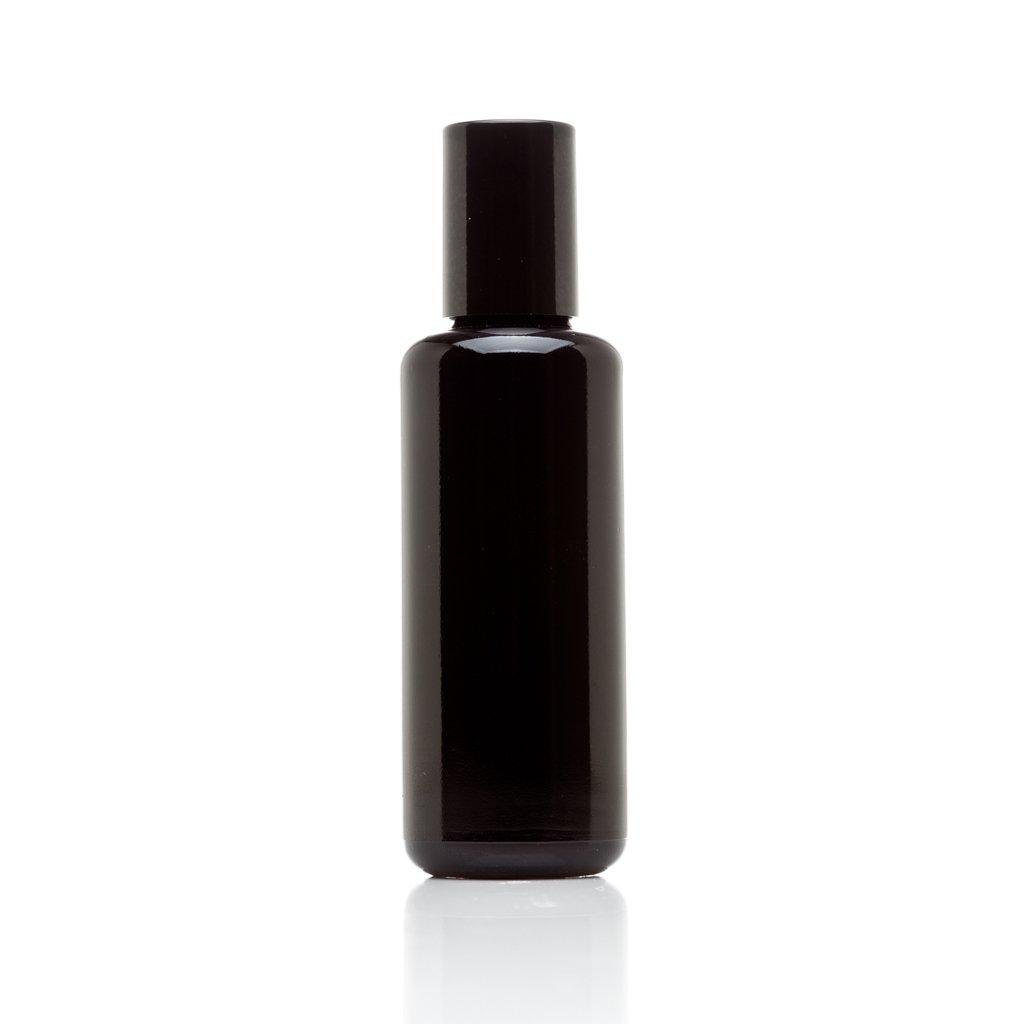 Infinity Jars 50 Ml (1.7 fl oz) 10-PACK Set Black Ultraviolet Glass Bottle w/ Glass Ball Roll on Tip