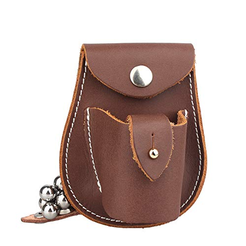 Kosibate Slingshot Ammo Pouch, Catapult Leather Hunting Holder for 3/8