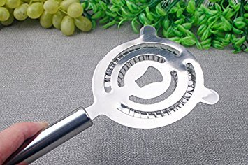 argento Ulooie utensile barman Ice setaccio shaker filtro in acciaio INOX per bar