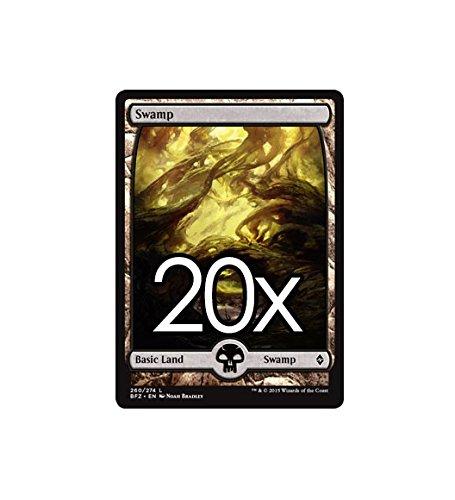 20 Battle for Zendikar Swamp #260 Magic the Gathering Basic FULL ART Land Lot