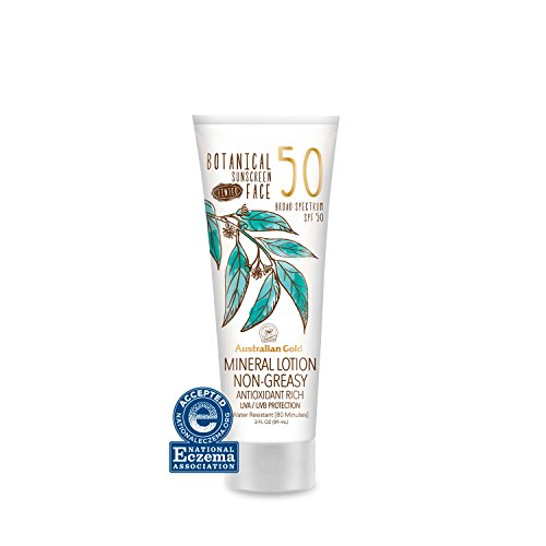 Australian Gold Botanical Sunscreen Tinted Face Mineral Lotion SPF 50 | 3 Ounce | Broad Spectrum | Water Resistant…