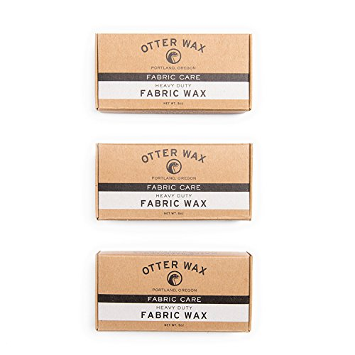 Otter Wax Fabric & Canvas Wax | Large Bar | 3-Pack | All-Natural Water Repellent | Made in USA
