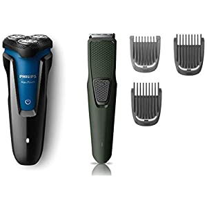 Philips Shaver (S1030/04) & Trimmer (BT1212/15) Combo, Multicolor