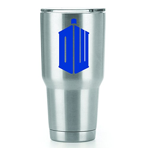 DW Doctor Who Vinyl Decals Stickers ( 2 Pack!!! ) | Yeti Tumbler Cup Ozark Trail RTIC Orca | Decals Only! Cup not Included! | 2 - 3 X 1.7 (Dr Who Adipose Costume)