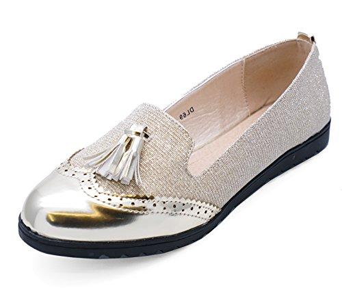 Flate Komfortable 8 Slip Heelzsohigh Sko Smart Loafers Tilfeldig Damene Gull on Arbeid 3 Størrelse Tassle awFwvUqp