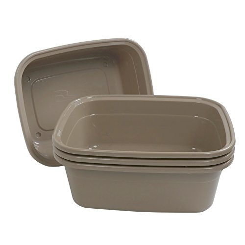 (Obston 14 QT Plastic Rectangular Dish Pan, Set of 4)