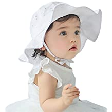 Infant Toddlers Kids Sun Cap Baby Girls Wide Brim Sun Protection Summer Hat 1-4 years