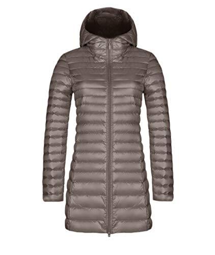 Quilted Winter Women's Zipper Puffer Khaki EKU Hooded Down Warm Jackets wSUtxq