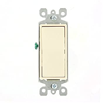 Leviton 5603-2T 15 Amp, 120/277 Volt, Decora Rocker 3-Way AC Quiet ...