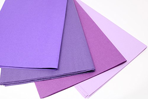 Colors Of Rainbow Purple Mix - Purple, Plum, Pansy, Lilac, Tissue Paper for Pom Poms, Wedding, Birthday, Paper Flowers, Tassel, Garland, Gift - 15