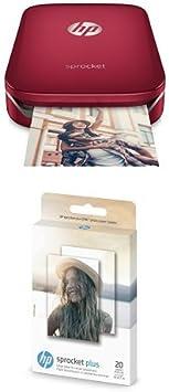 HP Sprocket Plus Instant Photo Printer, Print 30% Larger Photos on 2.3x3.4