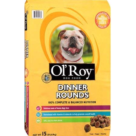 PACK OF 3 - Ol' Roy Dinner Rounds Dry Dog Food 15-Pound