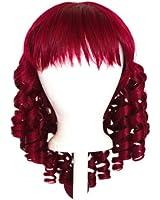 Risa Wig 14'' Ringlet Curly Shoulder Length w/ Short Bangs